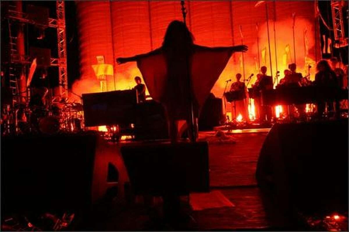 Bjork performs at the Sasquatch! Music Festival.