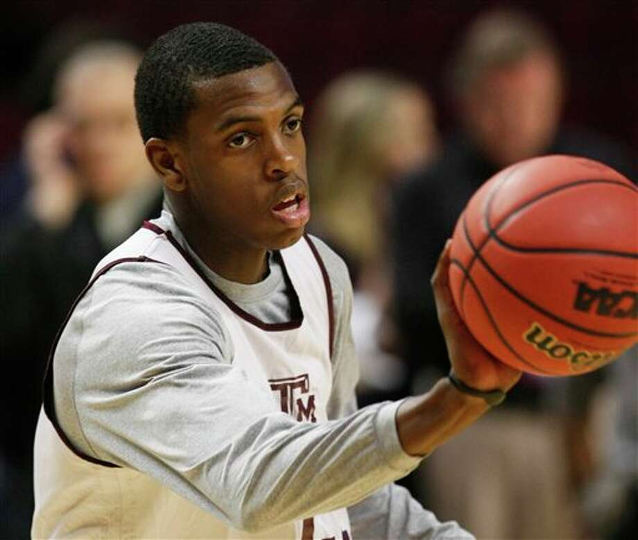 Sophomore Khris Middleton is Texas A&M's leading scorer and the only underclassman in the Aggies' starting lineup. CHARLES REX ARBOGAST/ASSOCIATED PRESS