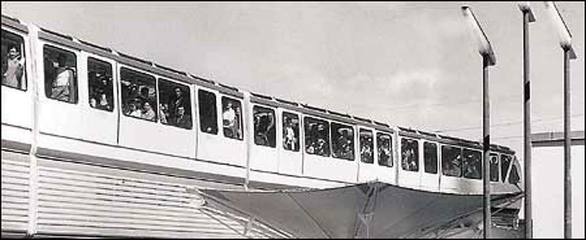 The monorail at the 1962 World's Fair in Seattle.