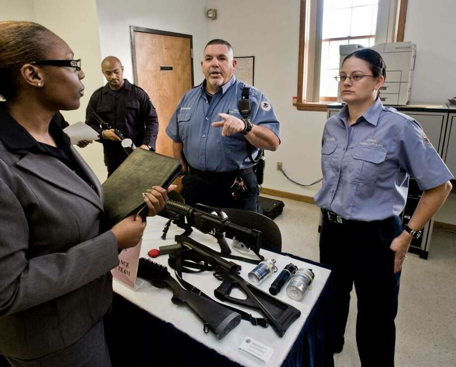 Applicants flock to danbury prison for job fair westport news - Correctional officer jobs ...