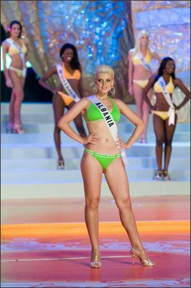 Matilda Mcini, Miss Albania 2008. Photo: Miss Universe L.P., LLLP