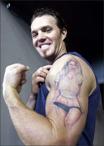 Go 2 guy so what if spiezio can 39 t tattoo the ball for Tattoo cost per hour