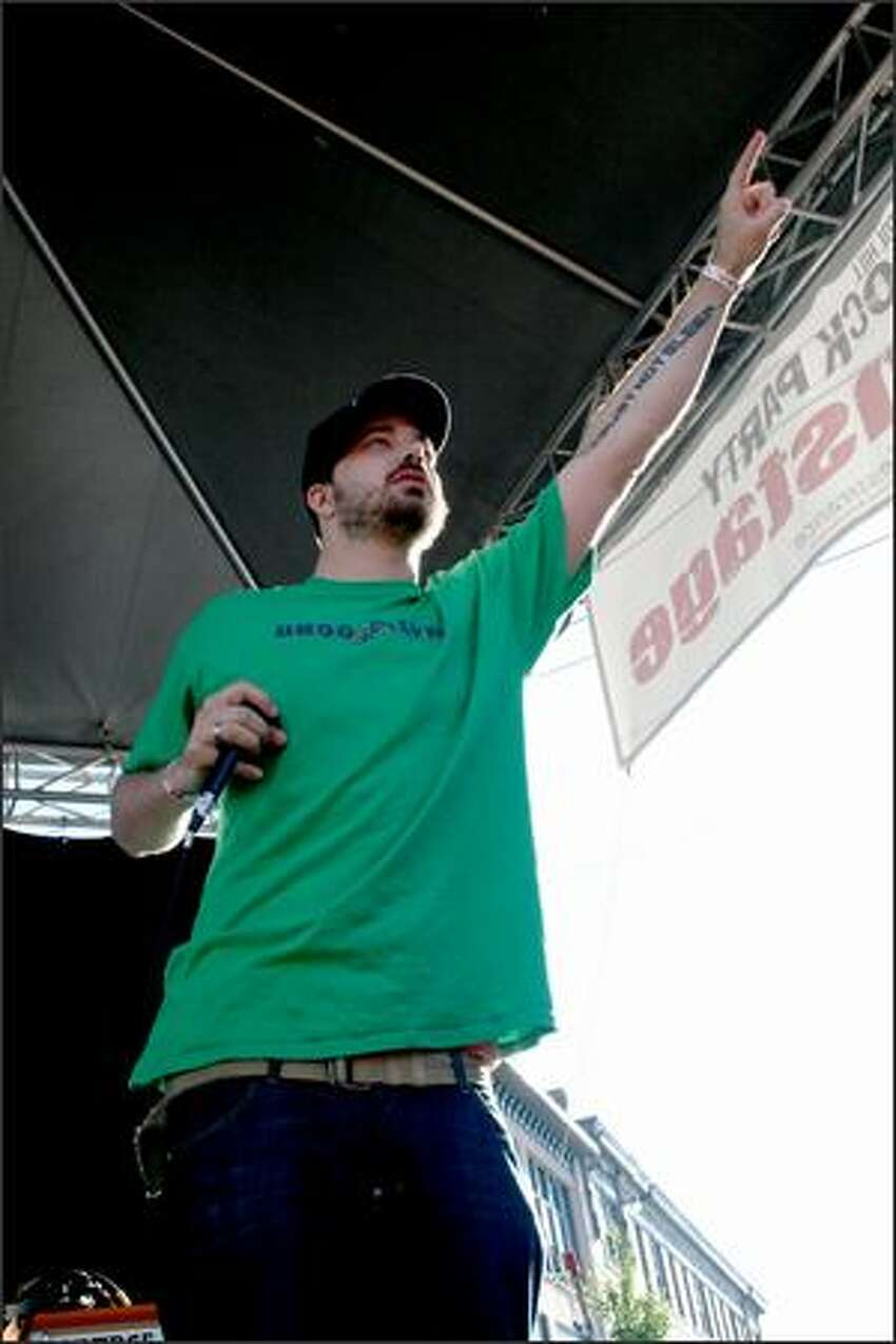 Aesop Rock had the crowd going wild on the Main Stage of the Capitol Hill Block Party.