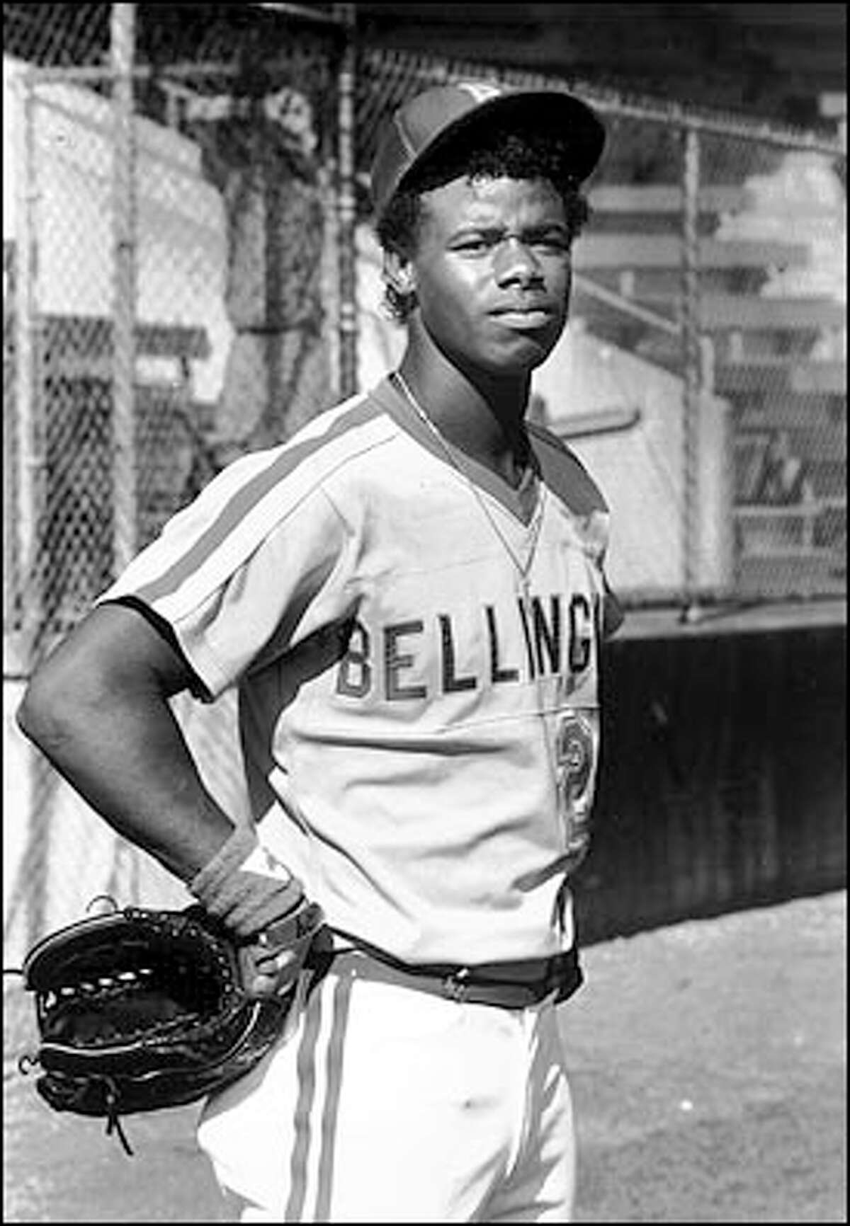 Griffey in the uniform of the Class A Bellingham Mariners, with which he started his professional career.