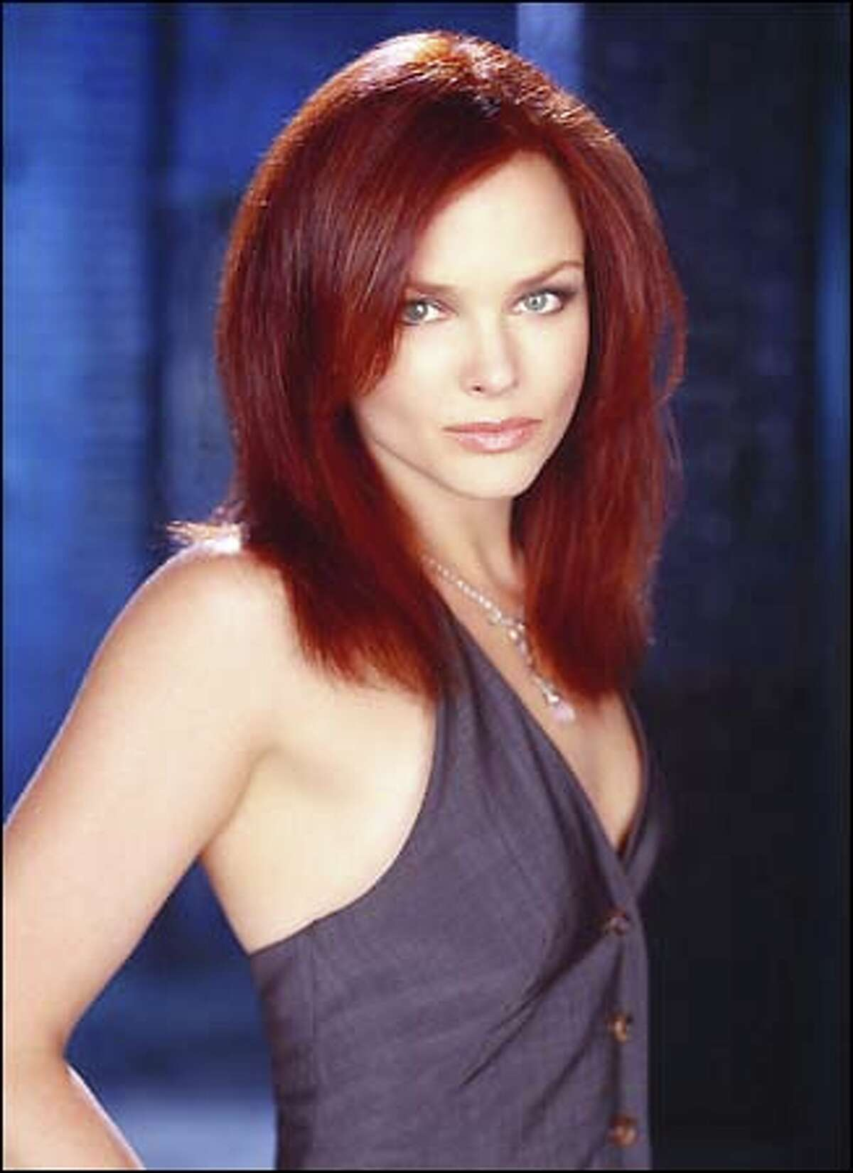 Dina Meyer plays Barbara Gordon, formerly Batgirl before the Joker left her paralyzed, sparking her second vigilante career as the mysterious Oracle.