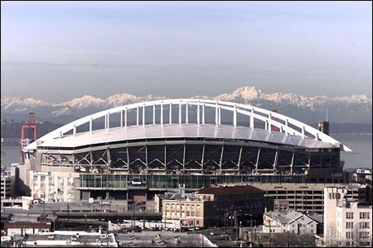 The stadium's white