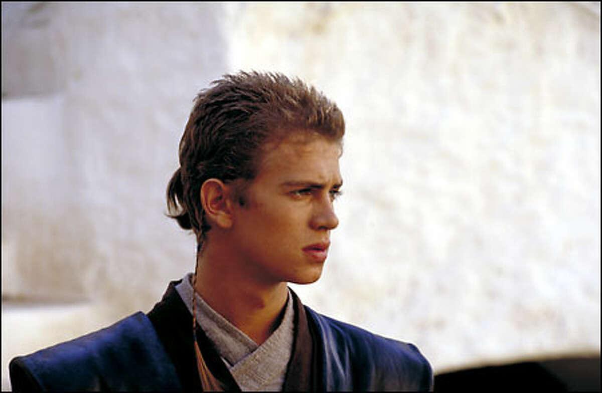 Anakin Skywalker (Hayden Christensen) ponders an important decision about his future.