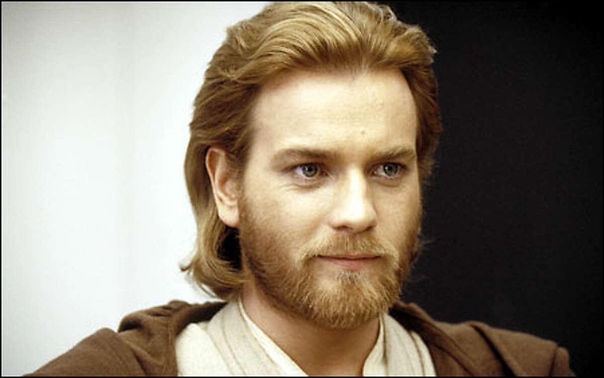 Obi-Wan Kenobi (Ewan McGregor) finds something to smile about ...
