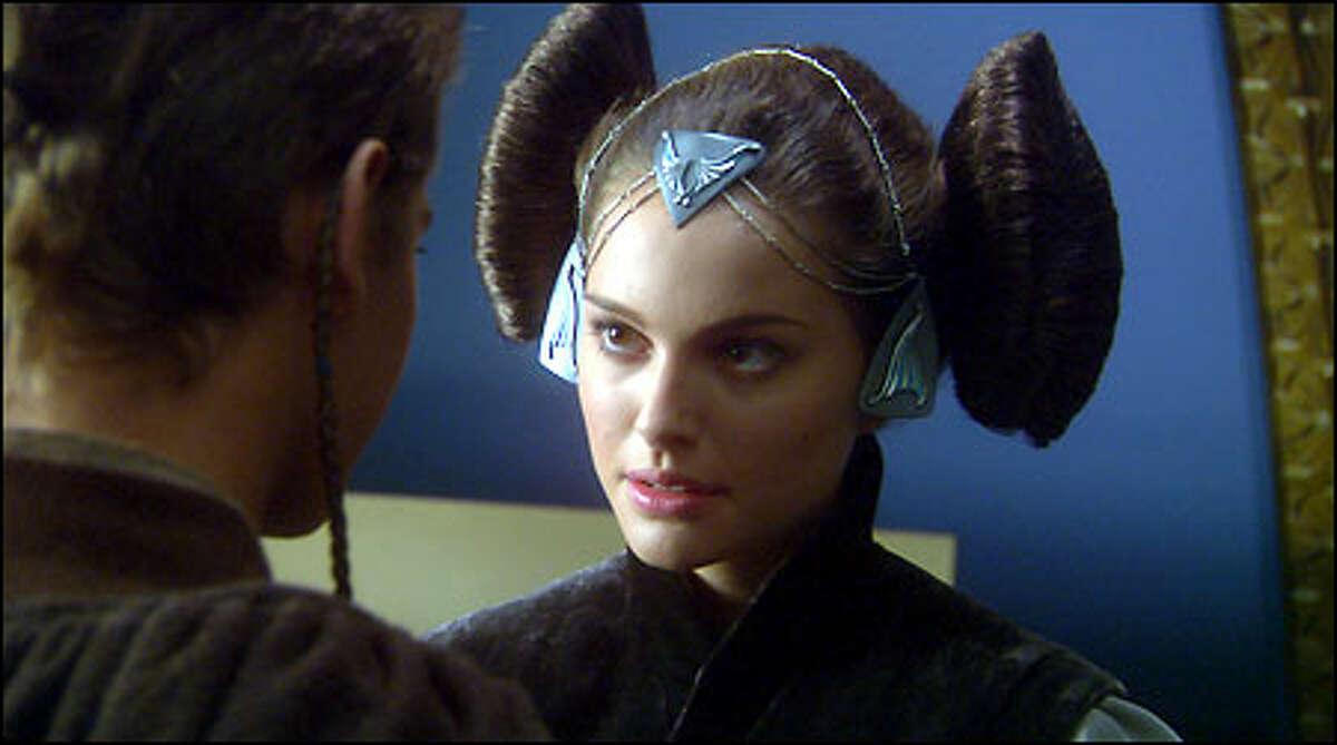 Senator Padmé Amidala (Natalie Portman) sees Anakin Skywalker (Hayden Christensen) for the first time in 10 years.