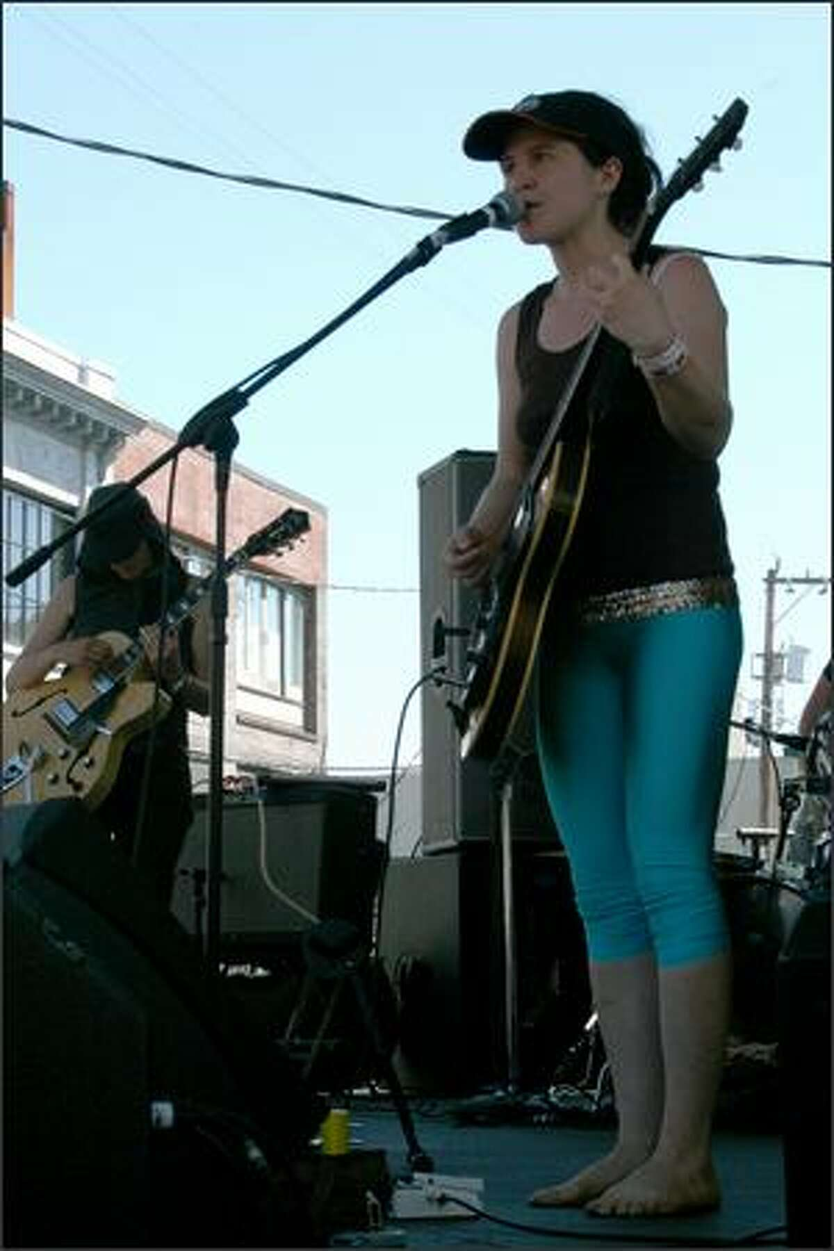 Indie rocker Mirah jams on the main stage at the Capitol Hill Block Party.
