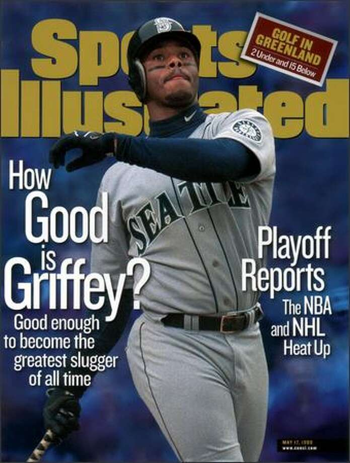 This is the cover of the May 17, 1999 issue of Sports Illustrated, featuring Seattle Mariners' Ken Griffey Jr.