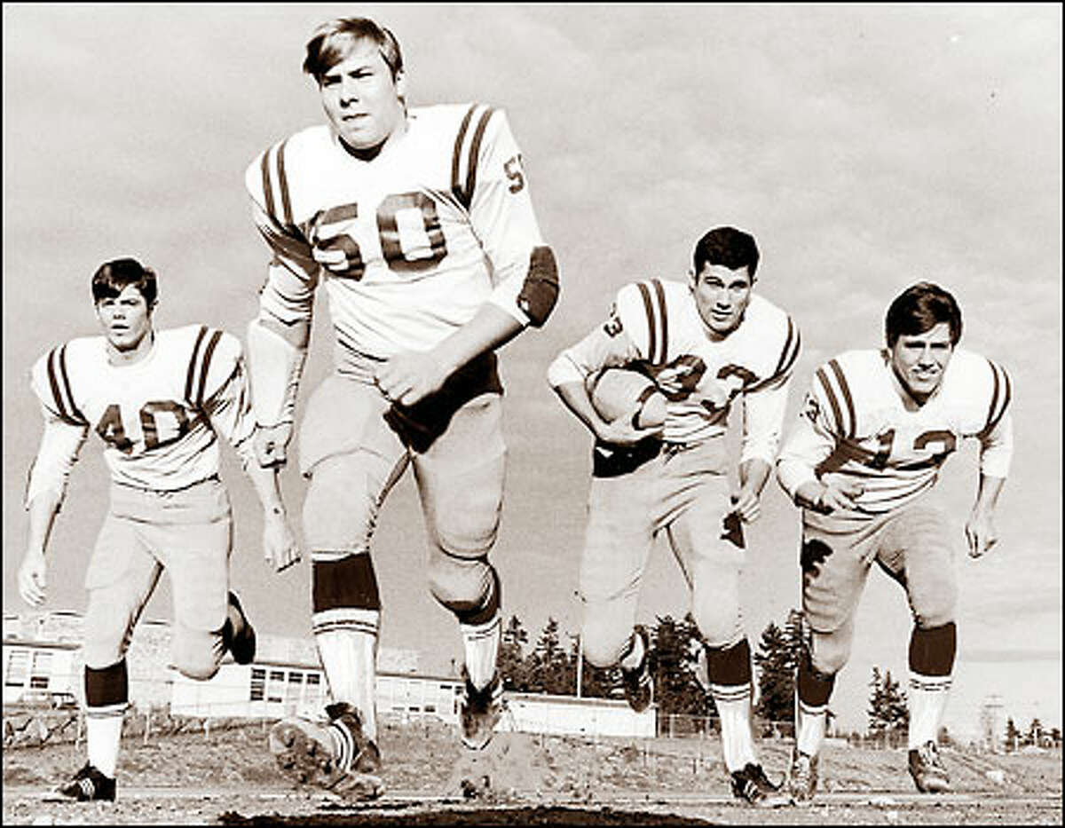 Jay Inslee (33) already had gathered a determined group of supporters when he played quarterback for Seattle's Ingraham High School in the late '60s.