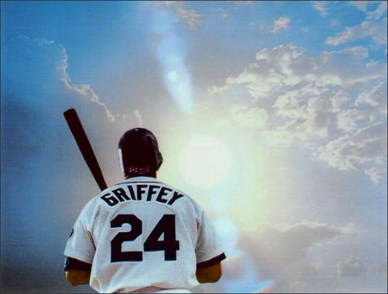 Ken Griffey Jr. in a 1999 television ad for the Mariners.