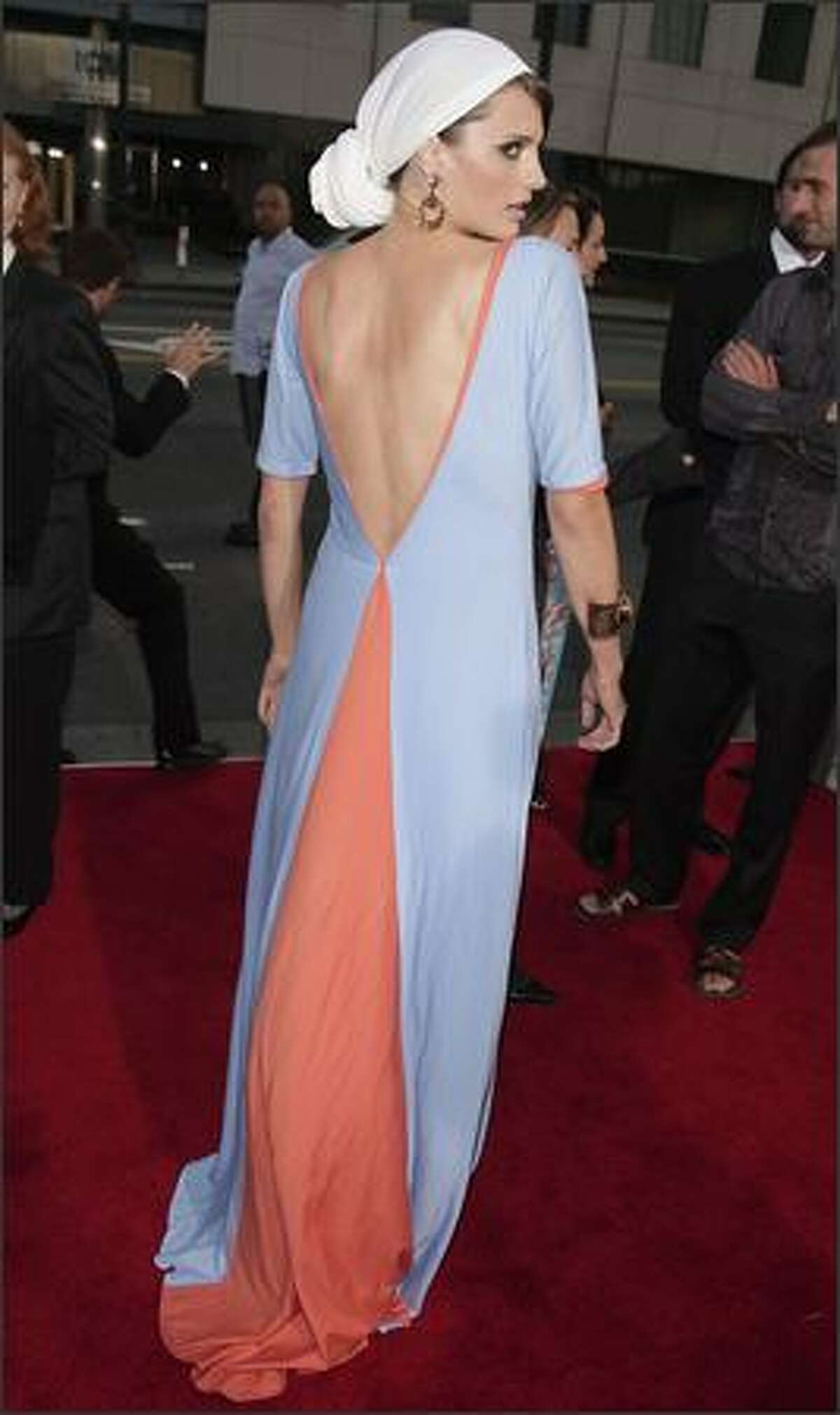 Actress Stana Katic arrives at the premiere of MGM's