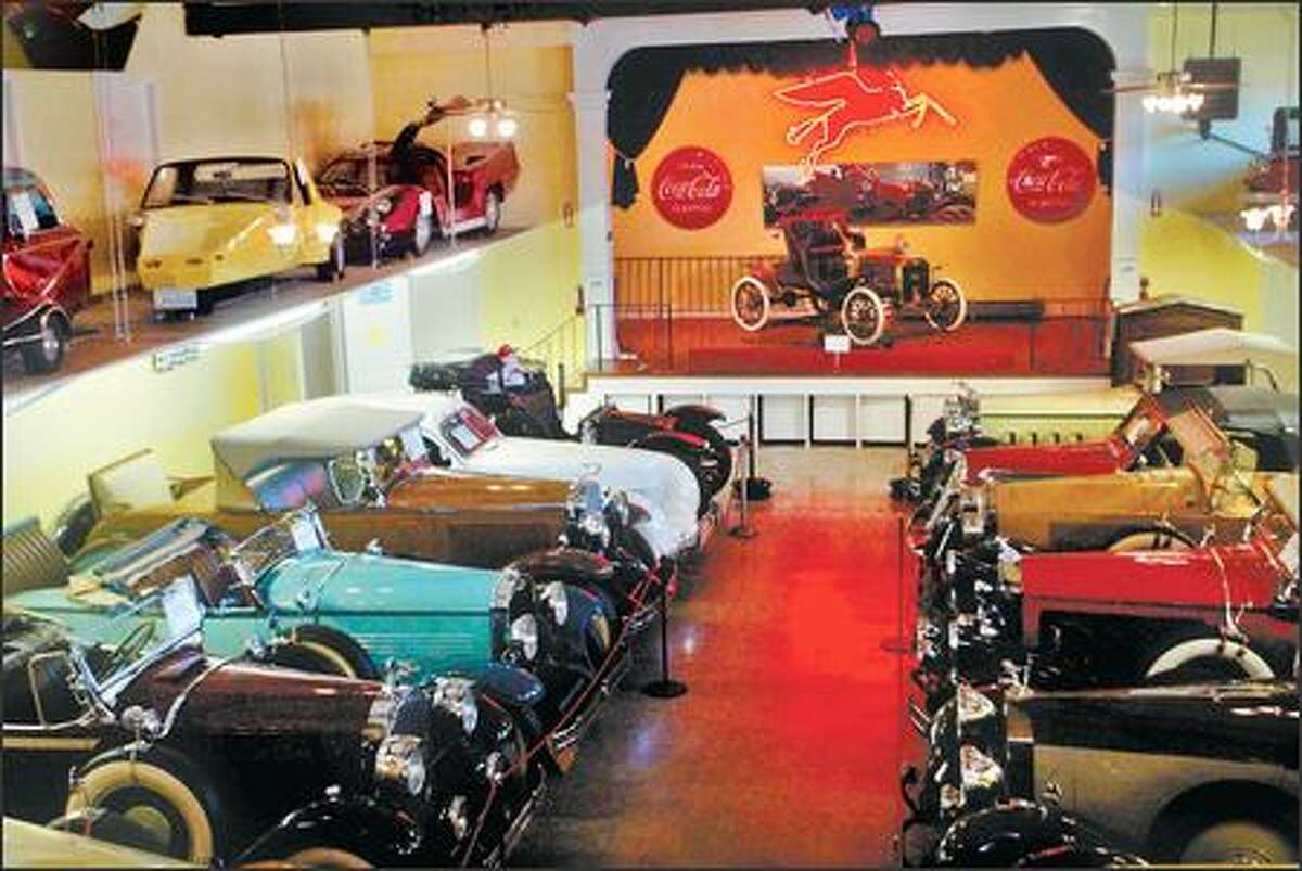Cars on display at the LeMay Museum. More than 750 vehicles can be viewed at the 28th annual LeMay Museum car show, open house and auction Saturday.