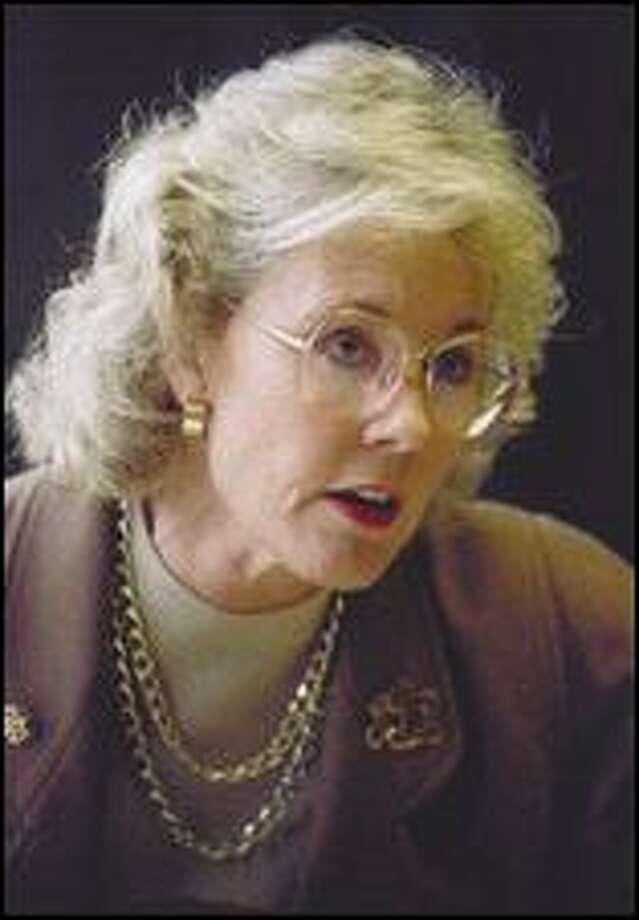 The P-I's Joel Connelly interviewed U.S. Representative Jennifer Dunn on Nov. 11, 1993. Photo: P-I File