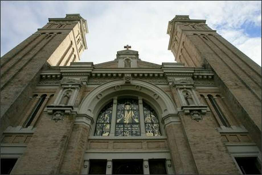 Exterior view of St. James Cathedral in Seattle on Tuesday. Photo: Dan DeLong, Seattle Post-Intelligencer