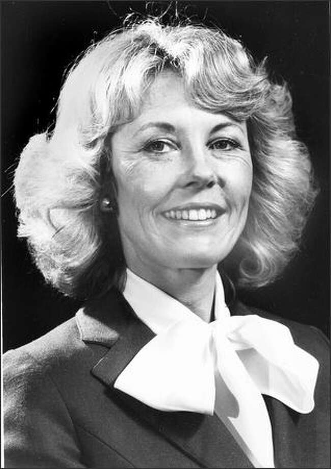 Jennifer Dunn serves as chair of the  Washington State GOP, July 14, 1981. Photo: P-I File