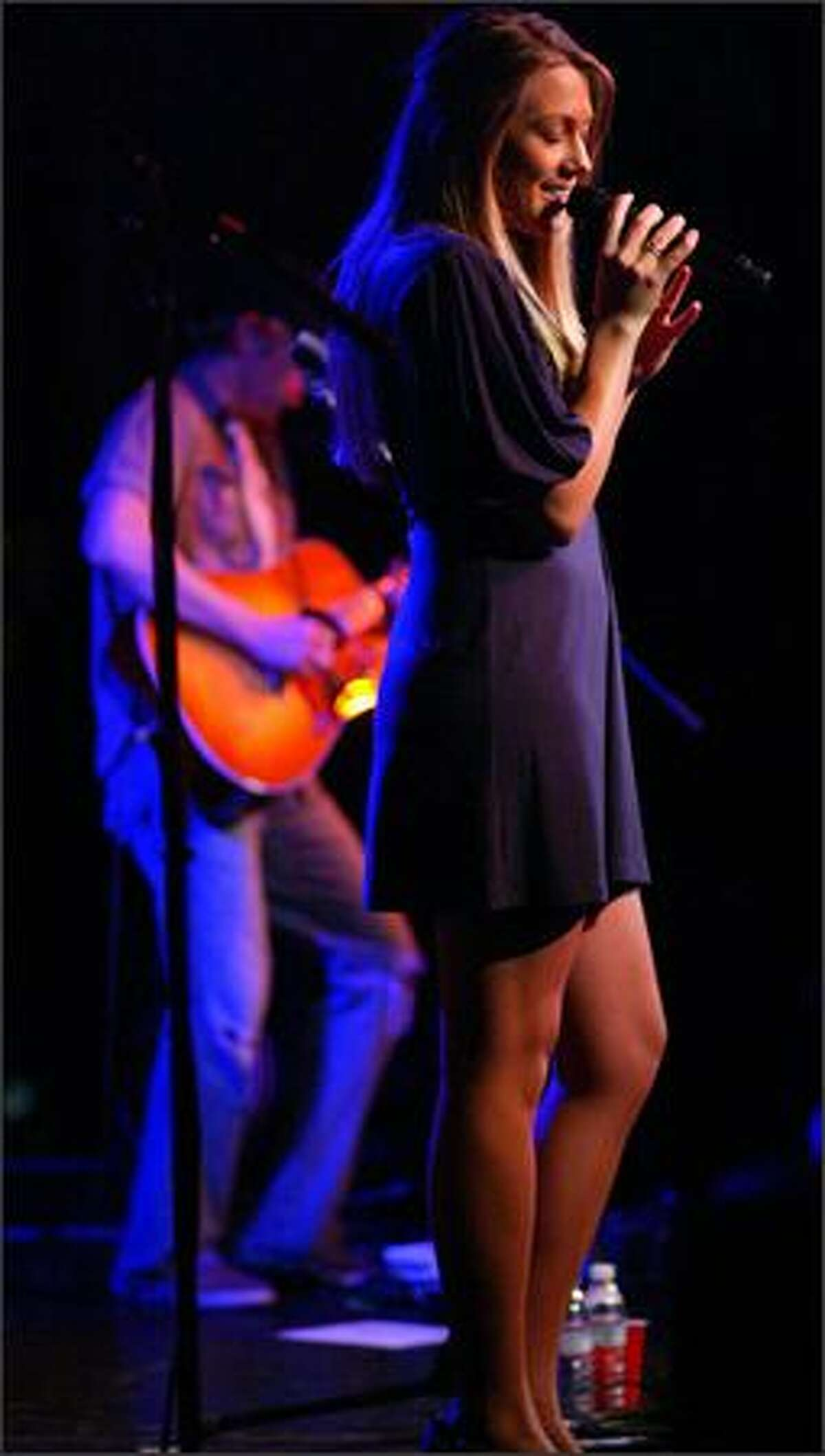 Musician Colbie Caillat performs at the Showbox on Tuesday. Caillat's MySpace profile helped propel her music career.