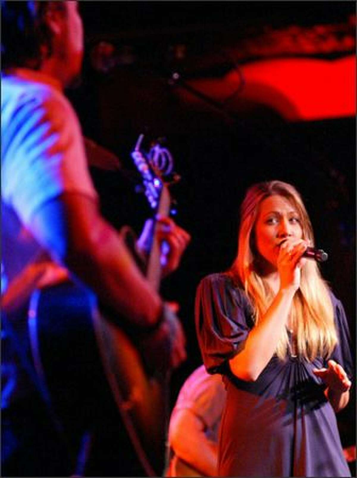 Musician Colbie Caillat performs at the Showbox.