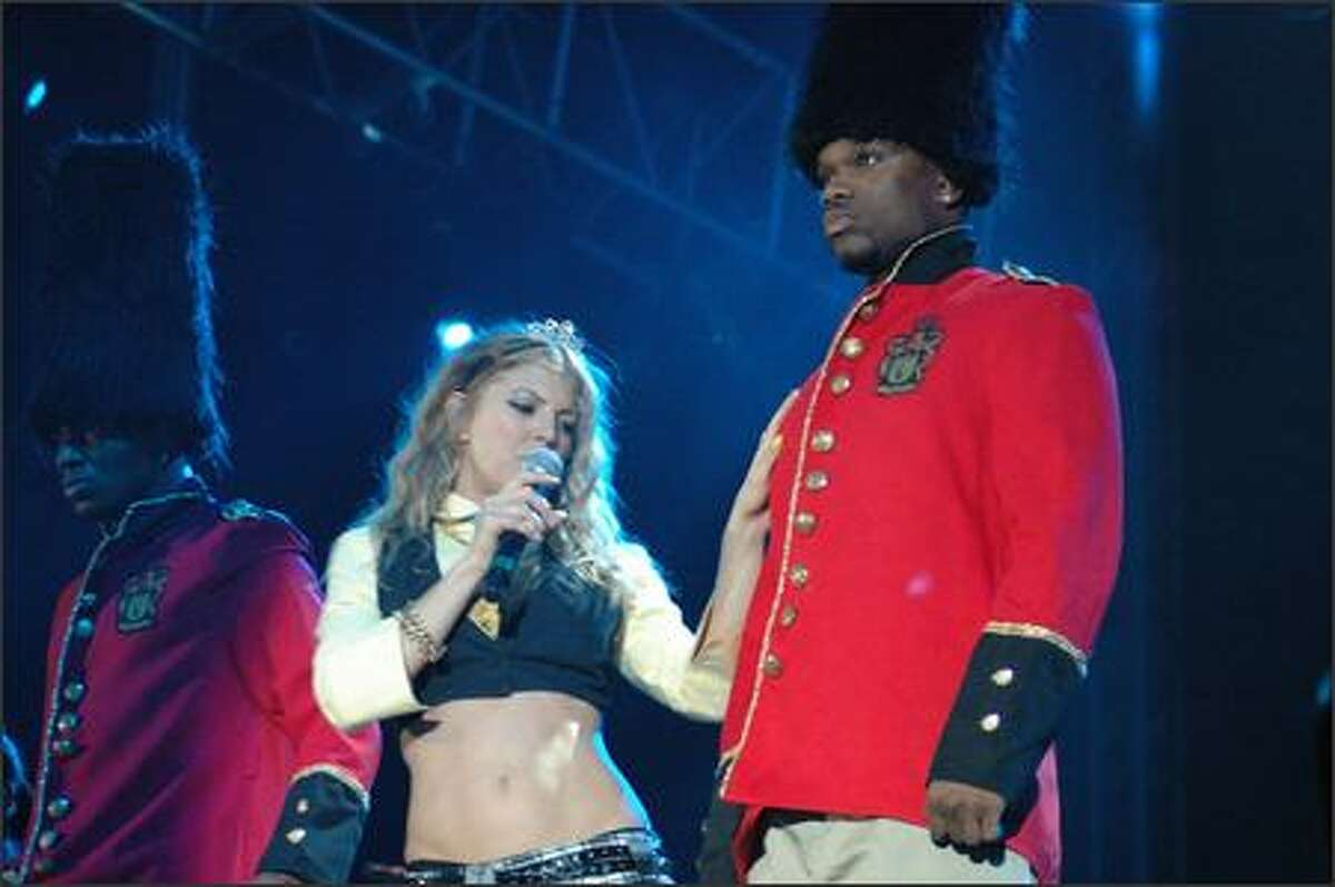 Fergie performs at Memorial Stadium Sunday night during Bumbershoot.