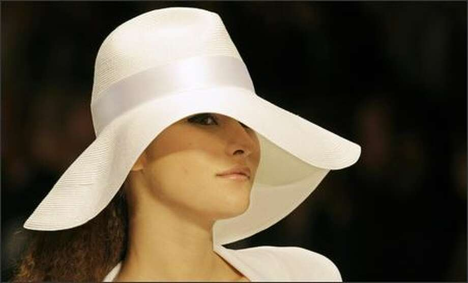 A model presents a creation by Italian designer Laura Biagiotti during the Spring/Summer 2008 collections of the Milan ready-to-wear fashion shows. Photo: Getty Images