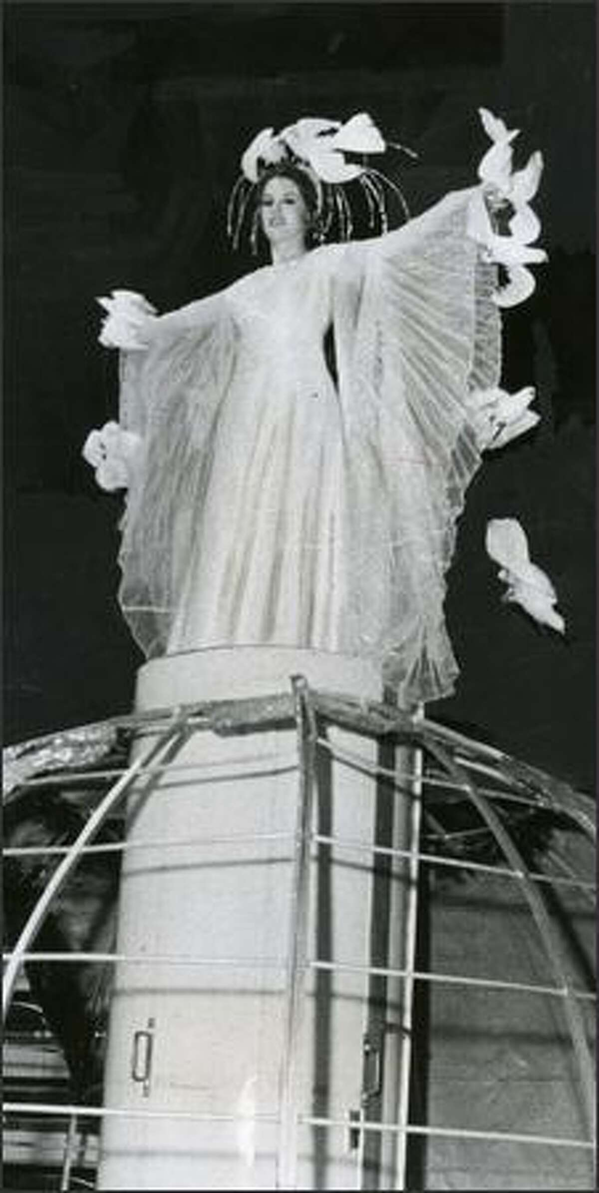 1970 - As part of an Ice Follies stunt, Susan Paynter was transformed into an