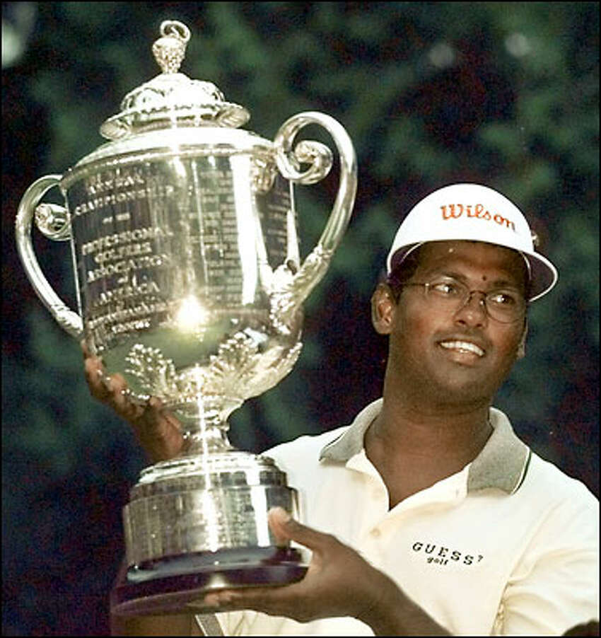 Vijay Singh adjusted his power game to the confines of Sahalee Country Club and held off Steve Stricker to win the 1998 PGA Championship.