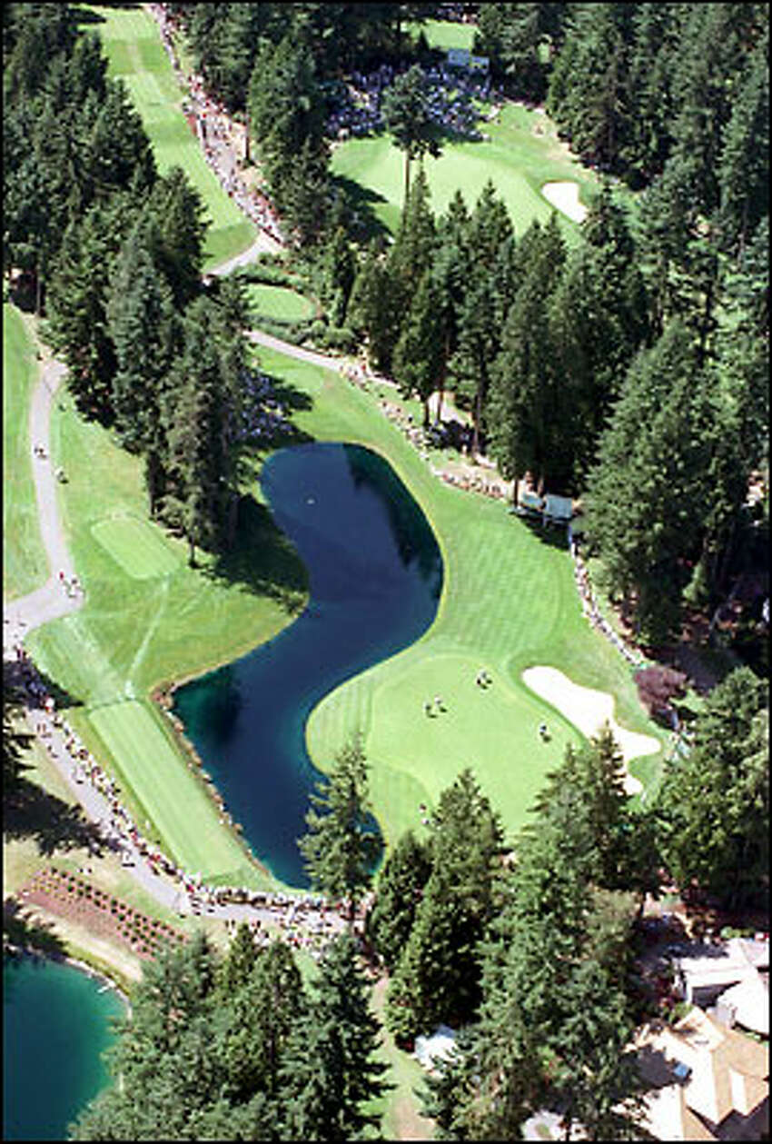 Tree-lined Sahalee Country Club is perhaps the tightest course PGA Tour players will encounter.
