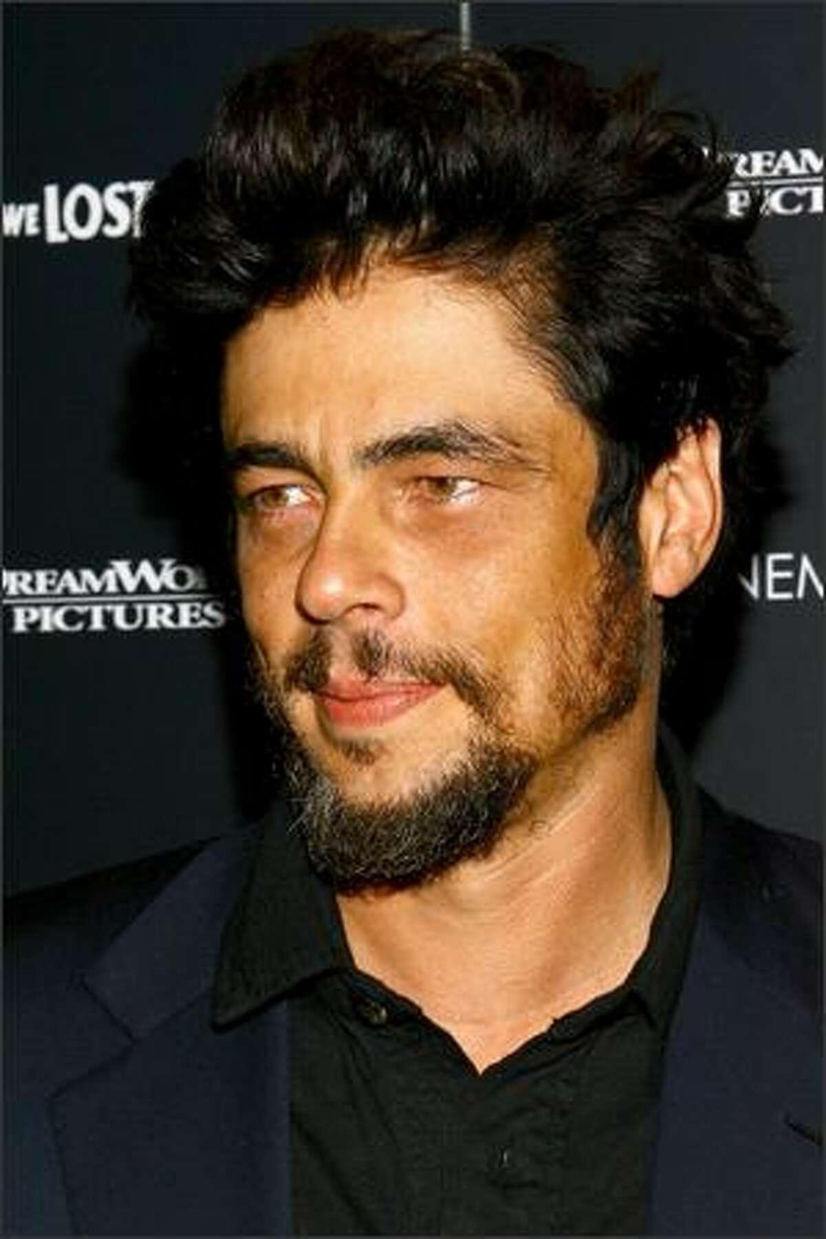 Actor Benicio Del Toro attends the premiere of