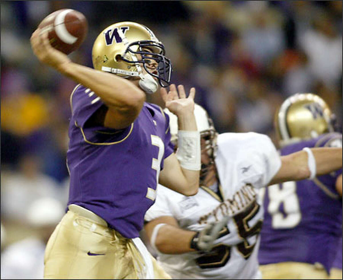 Washington quarterback Cody Pickett ranks third in the nation with 356.3 passing yards per game, and has a 154.3 rating.