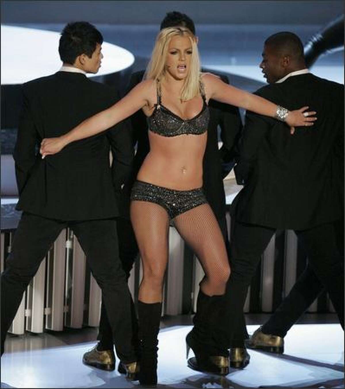Britney Spears performs at the MTV Video Music Awards. (AP Photo/Mark J. Terrill)