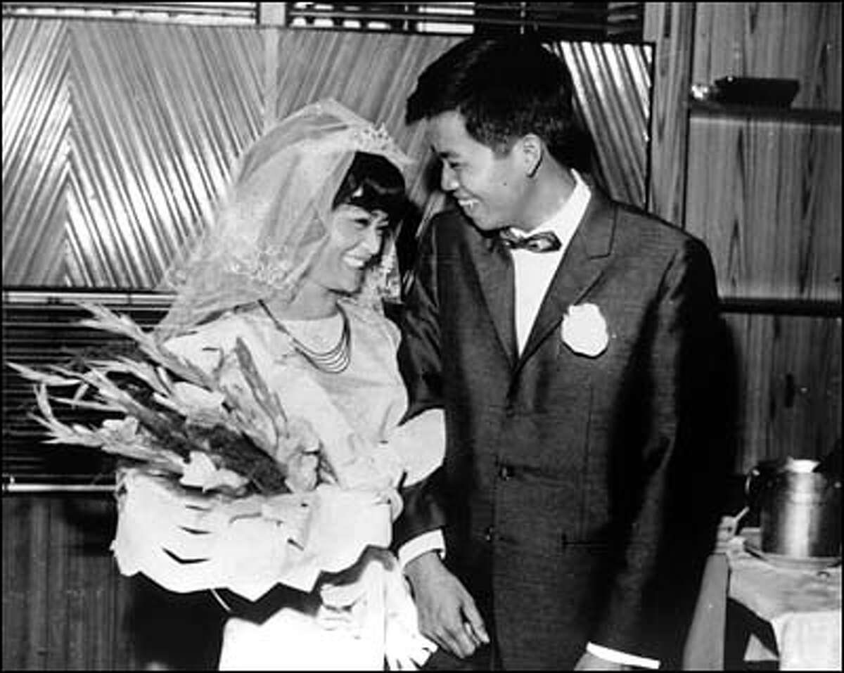 Shortly after the Tet Offensive of 1968, Me's battalion was transferred to Saigon. On March 17, Me and Sen got married weeks before he was transferred again to the coastal village of Vung Tau. His military advisers brought ice and cognac to the wedding reception.
