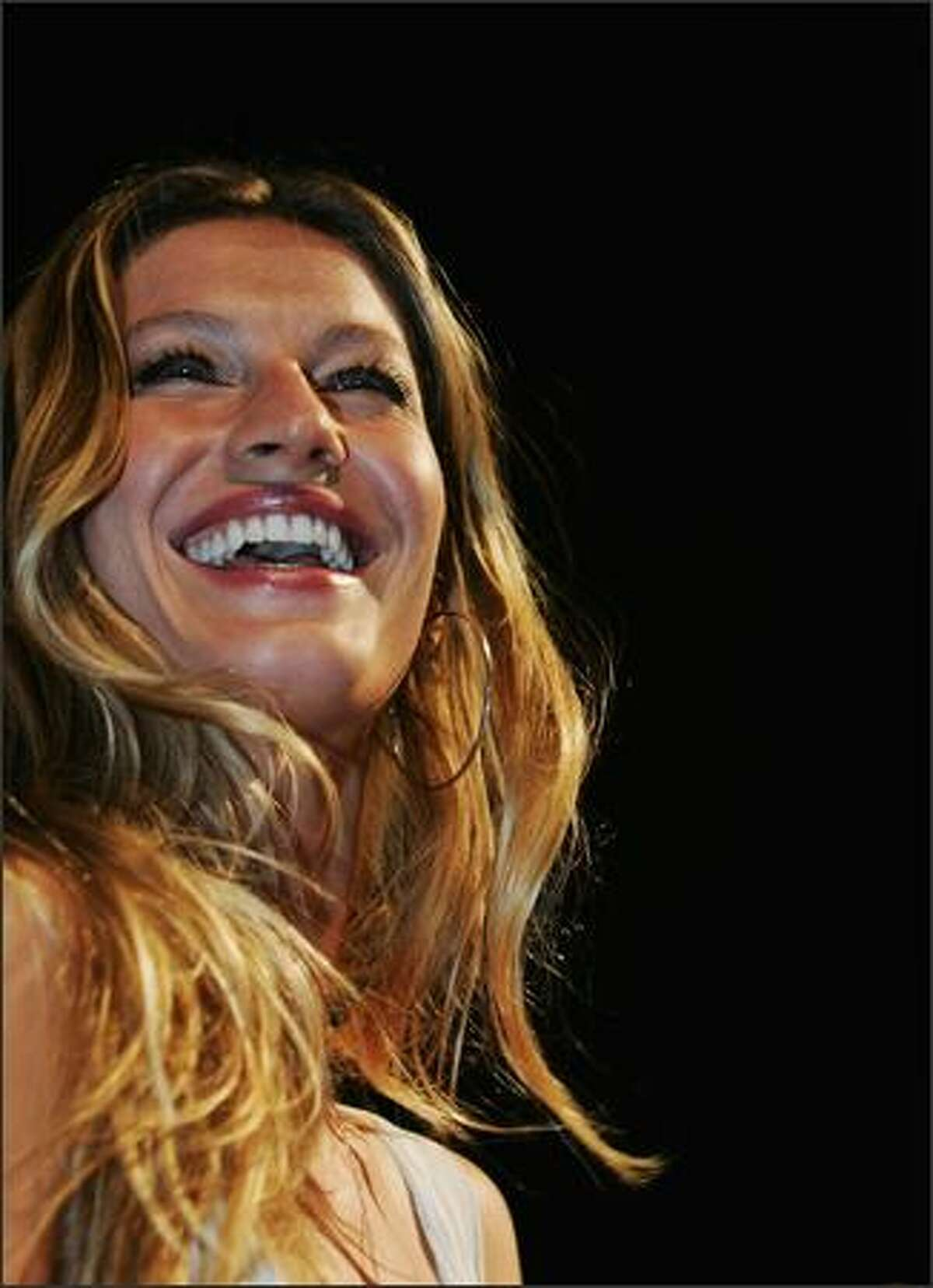 Supermodel Gisele Bundchen arrives at her new footwear collection launch