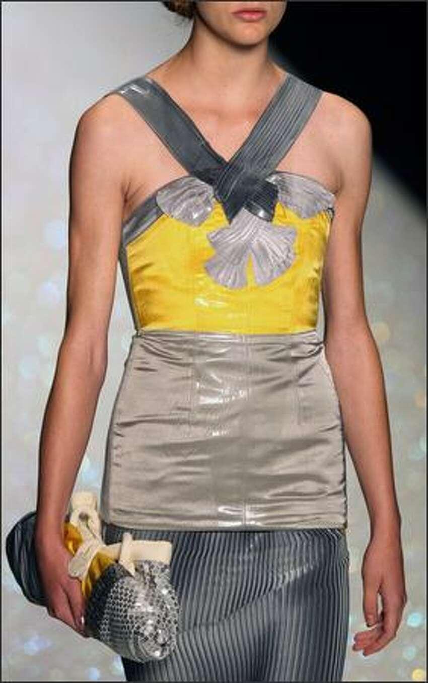 A model presents a creation by Antonio Marras.
