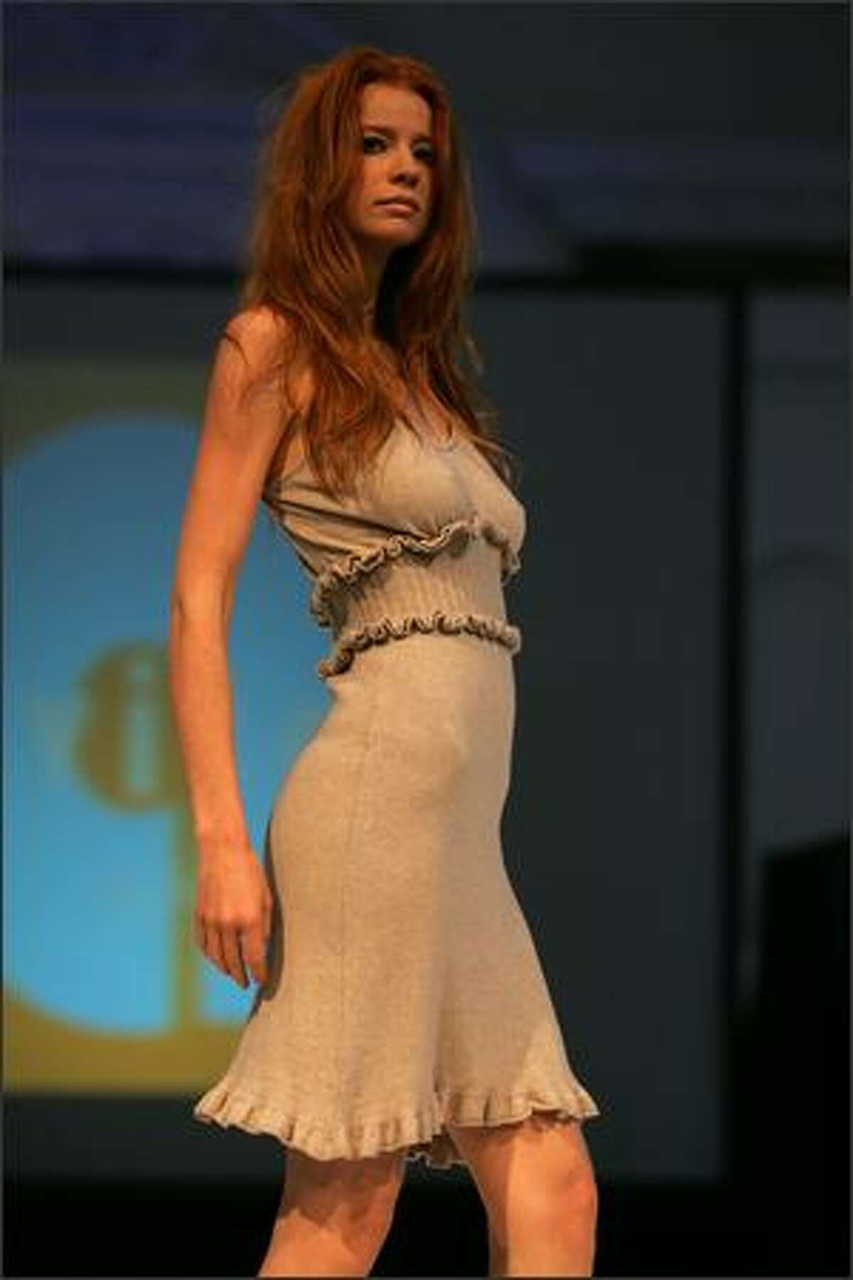 A model walks the runway during the Avita Spring 2008 Fashion Show at Vibiana on October 13, 2007 in Los Angeles, Calif.