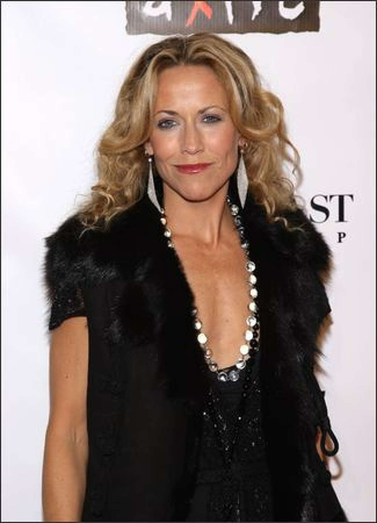 Musician Sheryl Crow arrives at the 4th Annual Black Ball concert for Keep a Child Alive (KCA) presented by the Conde Nast Media Group at Hammerstein Ballroom in New York City.