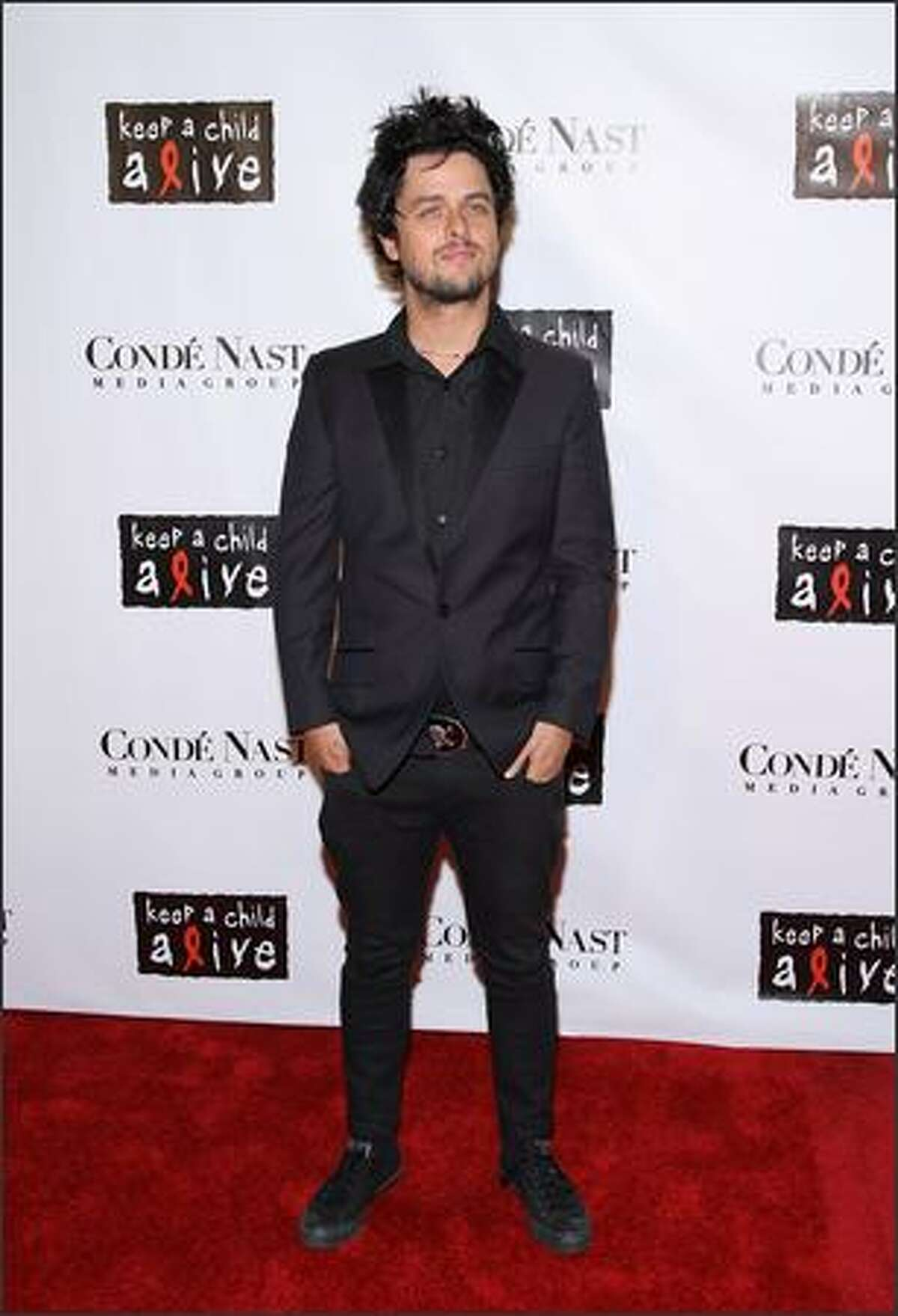 Musician Billy Joe Armstrong of Green Day arrives at the 4th Annual Black Ball concert for Keep a Child Alive (KCA) presented by the Conde Nast Media Group at Hammerstein Ballroom in New York City.