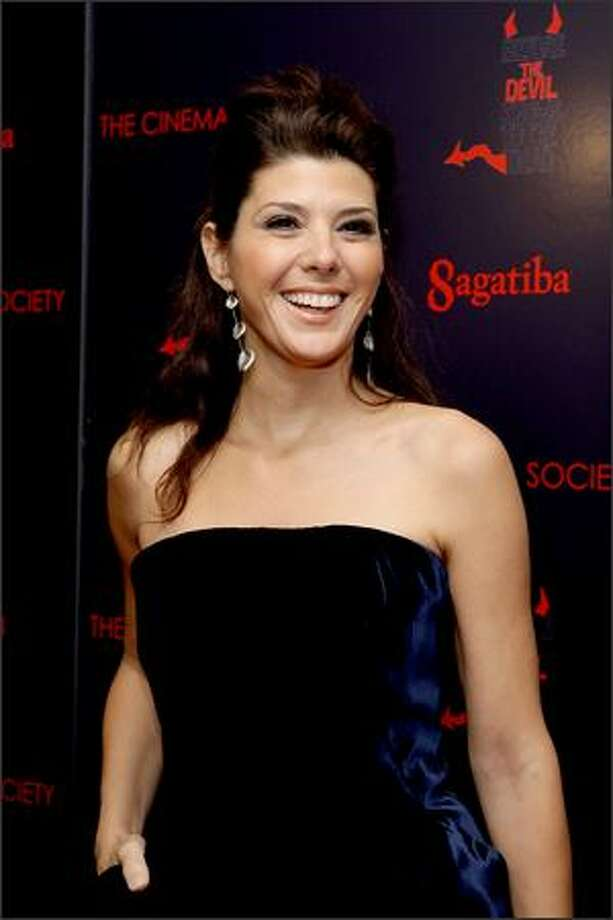 "Actress Marisa Tomei attends the New York premiere of ""Before The Devil Knows You're Dead"" presented by The Cinema Society and Sagatiba at the Regal Union Square in New York City. Photo: Getty Images"