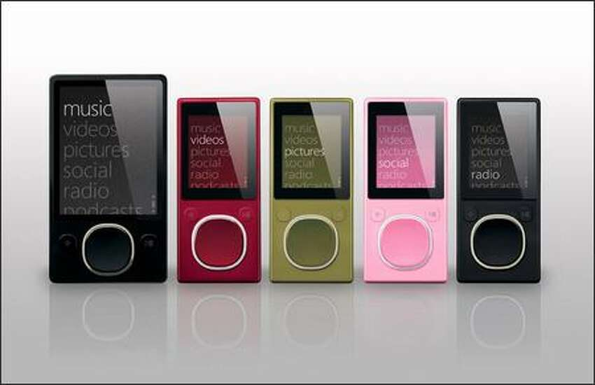 Joining the latest iteration of the original Zune is a smaller unit that uses flash memory instead of a hard disk. The new Zunes, available in 4GB and 8GB capacities, are available in four colors: red, green, pink and black.