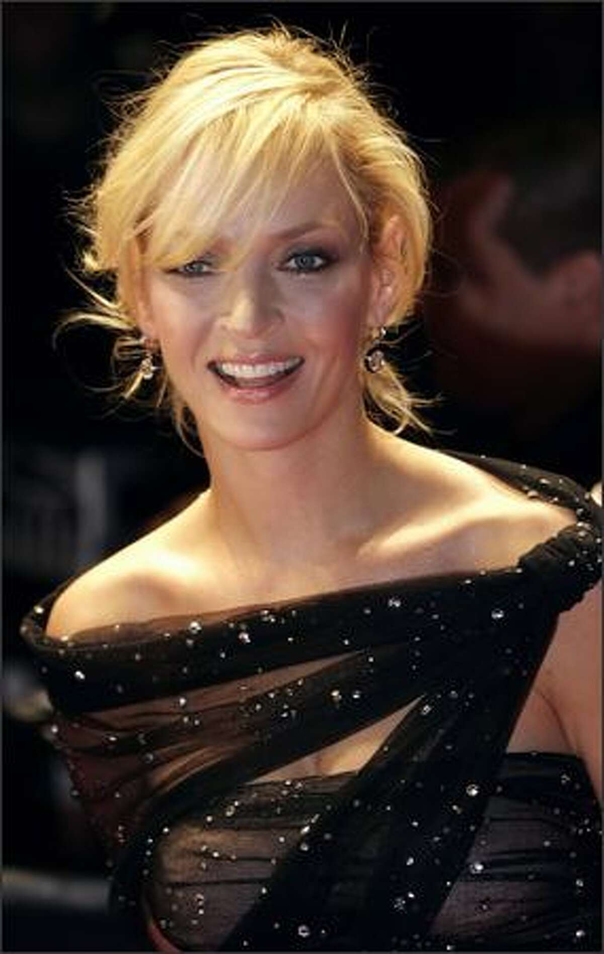 US actress Uma Thurman arrives at the Fashion Rocks for the Princes Trust event at the Royal Albert Hall in London, 18 October 2007. Some of the world?s top fashion designers have paired up with rock and pop stars to showcase their collections at the annual event.