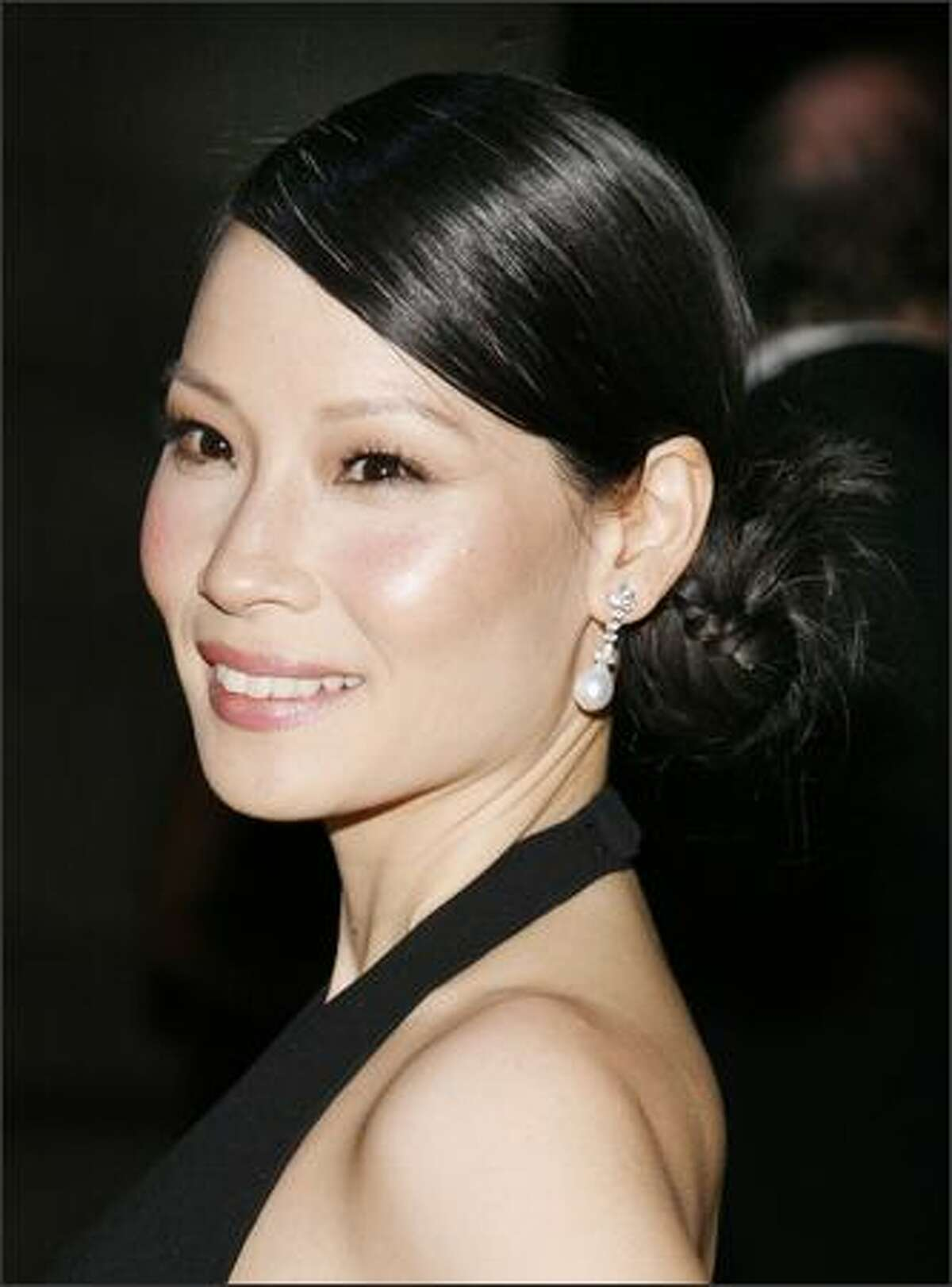 Actress Lucy Liu attends the 11th Annual ACE Awards at Cipriani in New York City.