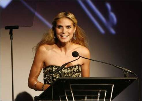 Model Heidi Klum speaks at the 11th Annual ACE Awards at Cipriani in New York City. Photo: Getty Images