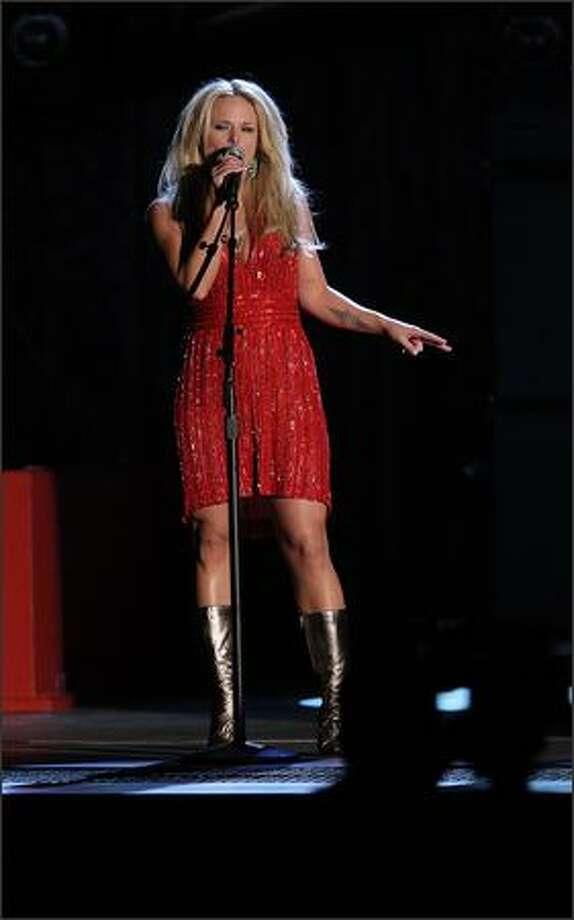 Miranda Lambert performs. Photo: Getty Images