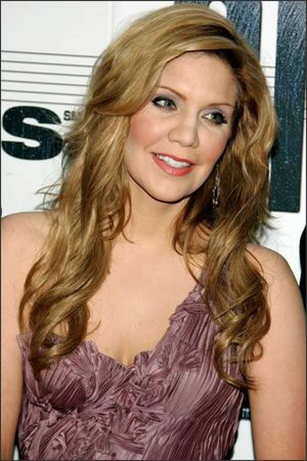 Bluegrass standout Alison Krauss arrives. Photo: Getty Images