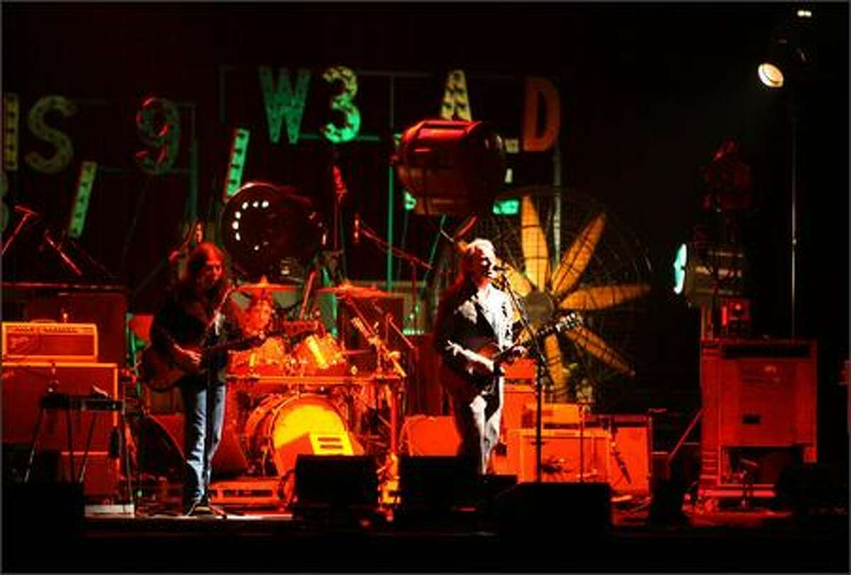 Neil Young performs in the Chrome Dreams Continental Tour at the WaMu Theater.