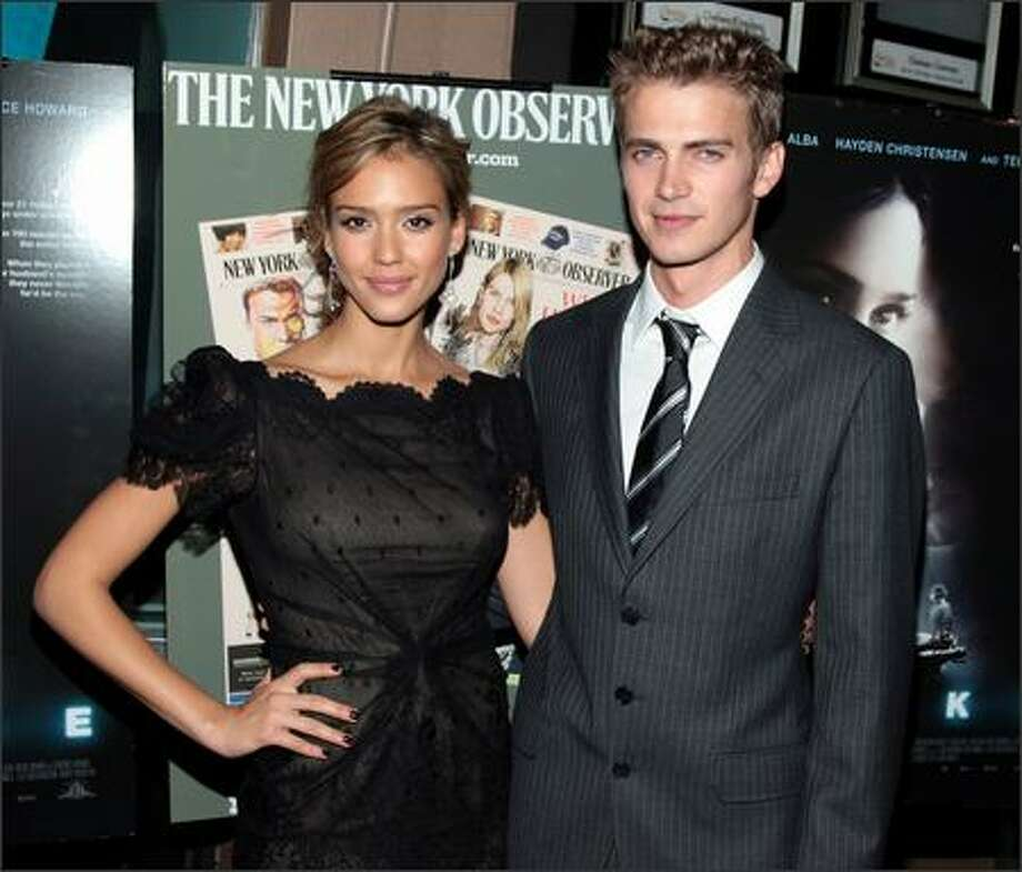 "Actress Jessica Alba and actor Hayden Christensen attend the New York premiere of ""Awake"" presented by The New York Observer at the Chelsea West Cinema on November 14, 2007 in New York City. Photo: Getty Images"