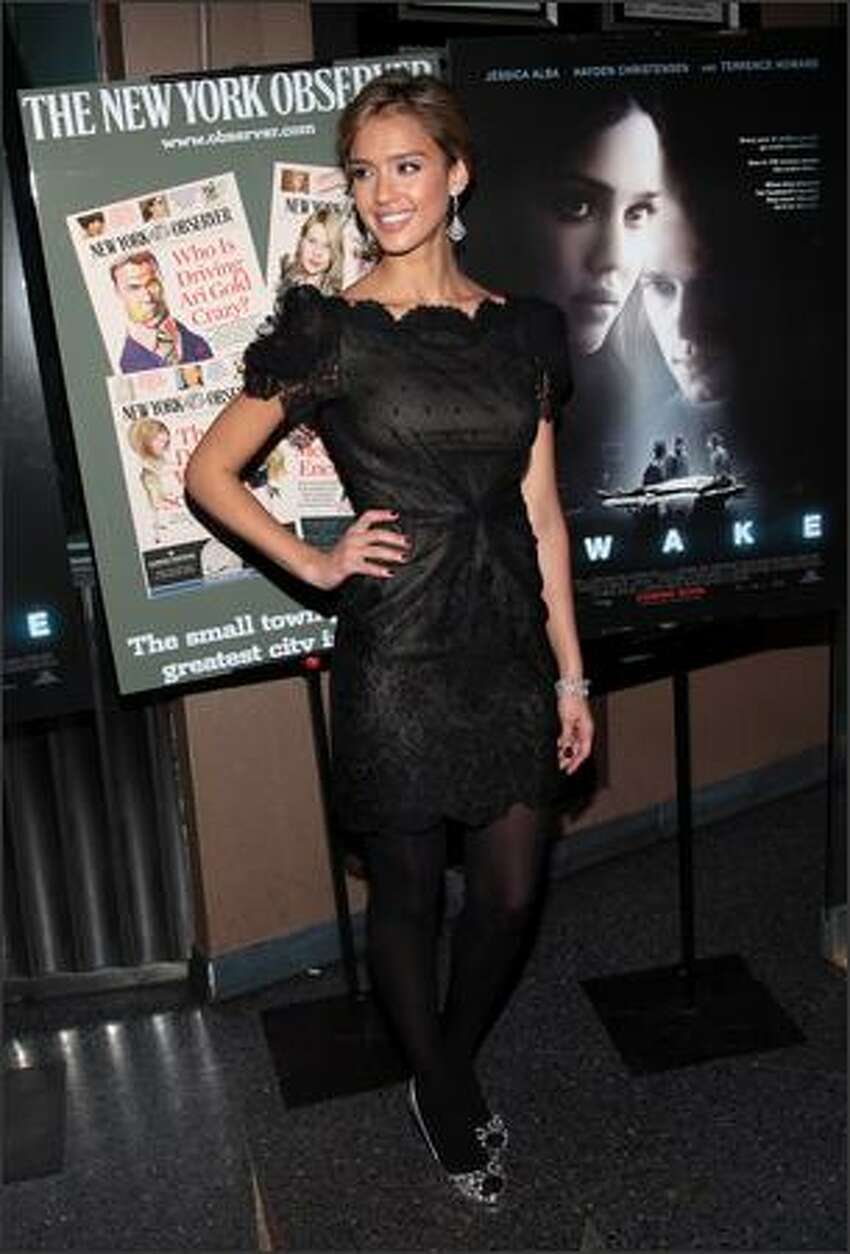Actress Jessica Alba attends the New York premiere of