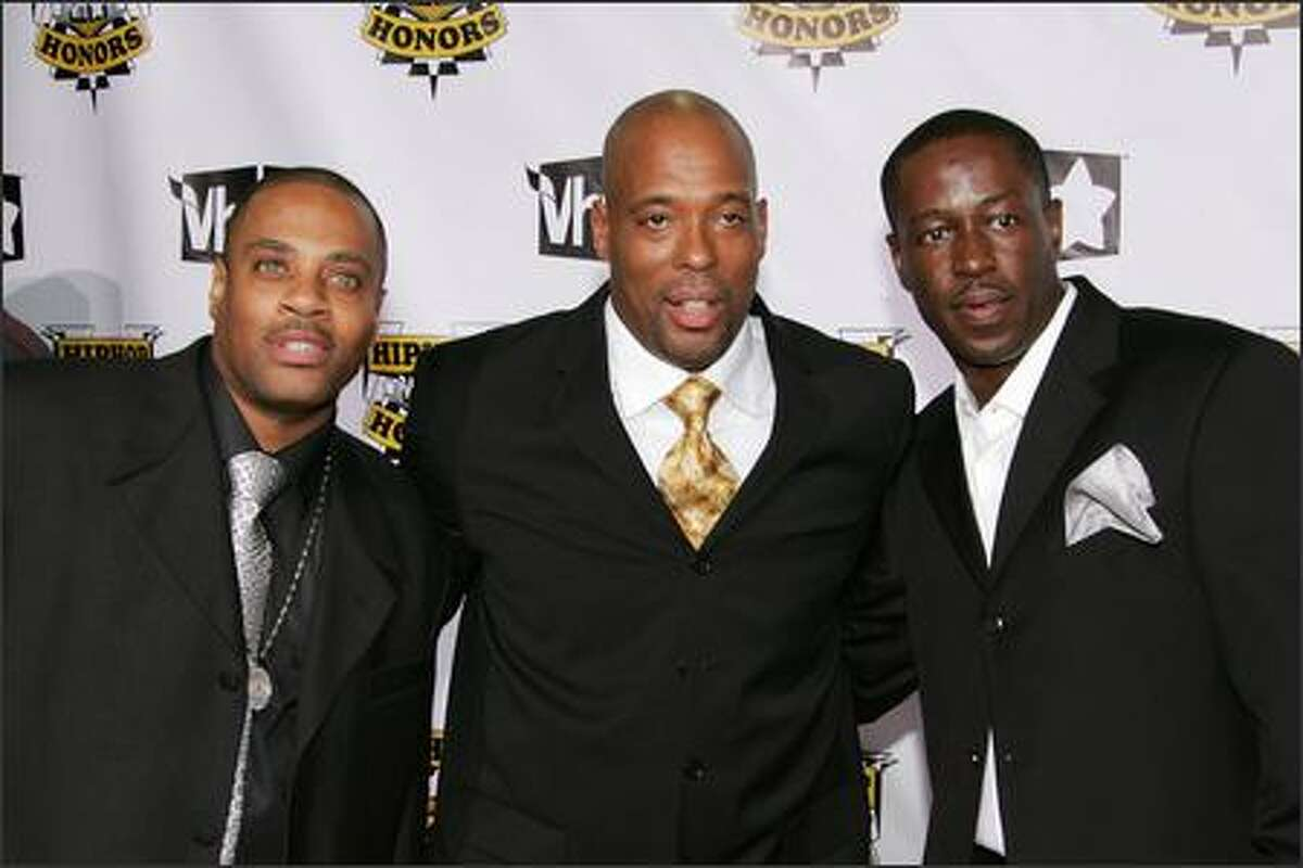 Left to right, Honorees Grandmaster Dee, Jalil Hutchins and Ecstasy of rap group Whodini attend the 4th Annual VH1 Hip Hop Honors ceremony at the Hammerstein Ballroom on October 4, 2007 in New York City.