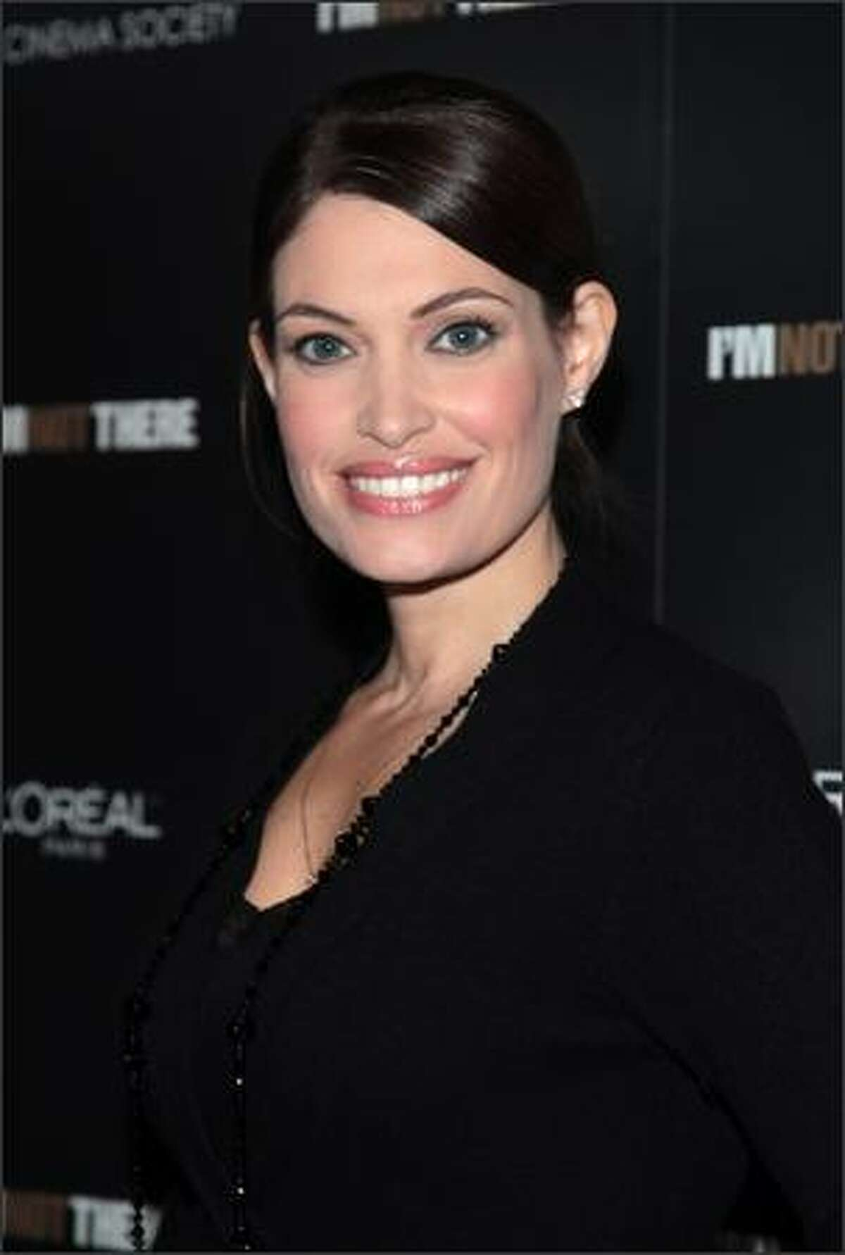 """News Anchor Kimberly Guilfoyle-Villency attends the New York premiere of """"I'm Not There"""" presented by The Cinema Society and Hogan at the Chelsea West Cinemas on November 13, 2007 in New York City."""
